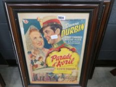 3 French film advertising posters - Genuine posters with stamp of authenticity