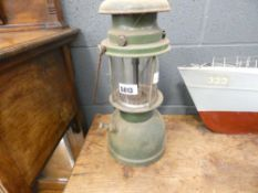 Green painted lamp