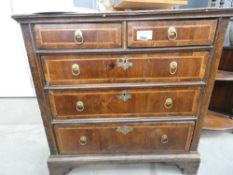 Georgian oak chest of 2 over 3 drawers
