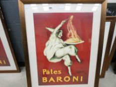 French pasta advertising poster