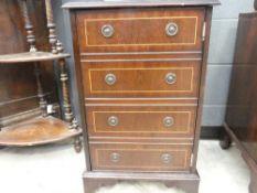 Reproduction mahogany high-fi cabinet