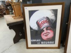 French bakers advertising poster