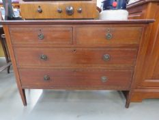 Edwardian chest fo 2 over 2 drawers