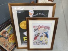 2 French biscuit and baking advertising posters