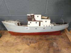 Grey painted model life boat