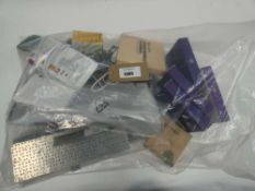 Bag containing quantity of electrical related devices; BT 4G Assures, boards, routers, external CD