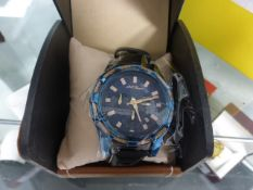 LA Banus rope bezelled chronograph wrist watch with box
