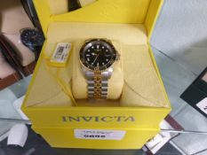 Invicta automatic professional wristwatch with presentation case and box