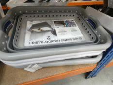 3211 - 4 space saving laundry baskets