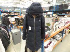 Ladies full zip hooded used DKNY coat