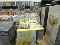 2 boxed wine glass carafes