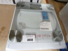 2 Taylor digital glass scales (one boxed, one unboxed)