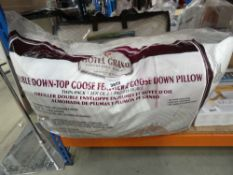 Double goose down feather feather pillow plus a Bliss Cool Touch memory foam pillow