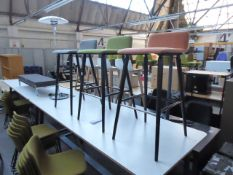 3 Sixteen3 cloth upholstered high stools
