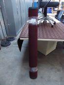232 - 122cm x 183cm burgundy heavy duty entrance mat with square pattern