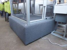 120cm x 120cm grey cloth low stool