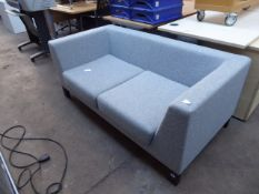 160cm Allermuir grey felt 2 seater settee