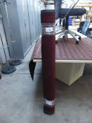 234 - 122cm x 183cm burgundy heavy duty entrance mat with square pattern