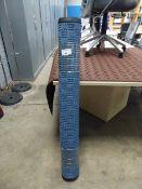 675 - 117cm x 183cm blue heavy duty entrance mat in a crossplate pattern