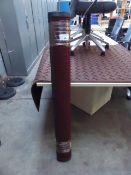 237 - 122cm x 183cm burgundy heavy duty entrance mat with square pattern