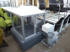 A custom built fumes cabinet with a Colasit Limited centrifugal fan and power unit (used in
