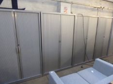 120cm grey double tambour stationery cabinet