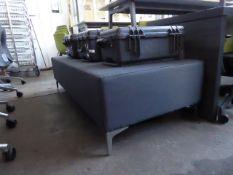 170cm x 75cm Elite grey low level stool with chrome legs