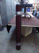 238 - 122cm x 183cm burgundy heavy duty entrance mat with square pattern