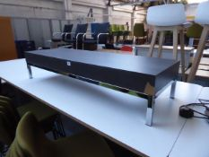 120cm x 40cm Allermuir low level coffee table with chrome frame