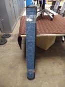 676 - 117cm x 183cm blue heavy duty entrance mat in a crossplate pattern