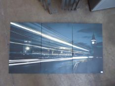 A set of 3 stretch canvas prints of London scenes