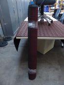 233 - 122cm x 183cm burgundy heavy duty entrance mat with square pattern