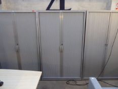 120cm JG grey double tambour stationery cabinet