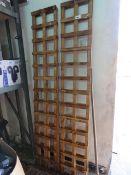 (1121,2) 4 single wooden trellis panels, 1'x6'