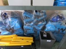 (1129) 3 bags containing plastic linbins