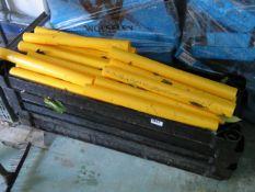 (1134) Quantity of black plastic shelving