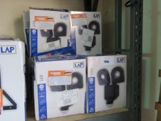 (1011) Approx. 15 boxed LED 2x800 lumen security lights