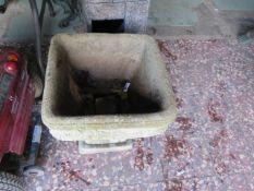 Concrete garden planter on stand