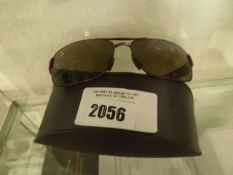Pair of Boss polarised sunglasses with carry case model BOSS0801/S