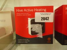 2 Hive Active Heating thermostat controls with boxes