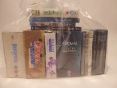 Bag containing quantity of various DVD film and boxsets