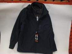 Gents XXL waterproof Stretchtec hooded jacket with quilted liner