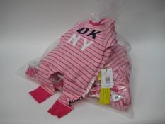Bag of 10 DKNY children's pink two piece t-shirt and leggings - various sizes