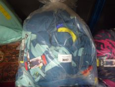 Bag containing 30 Ladies Fila mesh overlay tank tops in turquoise and blue