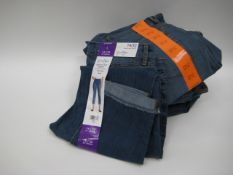 Bag of Jessica Simpson roll crop skinny jeans in denim blue - various sizes
