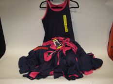 Bag containing 30 ladies Fila mesh overlay tank tops in pink and blue sizes S & M