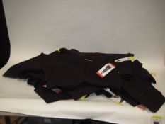 Bag containing 29 pairs of DKNY ladies jeans in burgandy mainly sizes S & M