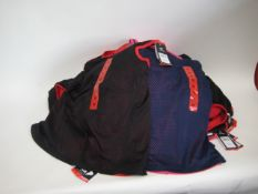 Bag containing 20 Fila mesh overlay tank tops in pink and blue & 6 in black and red sizes ranging