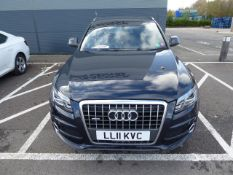 LL11 KVC (2011) Audi Q5 S line TDI Quattro, 7 speed automatic, in blue, 1968cc diesel estate,