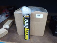 Box of line marking paint in yellow